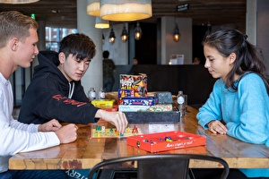 Board games at the hotel